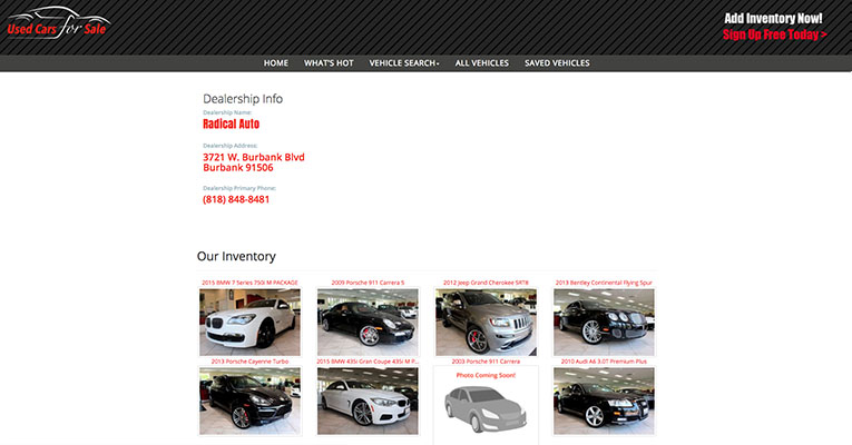 basic package pricing for used cars for sale